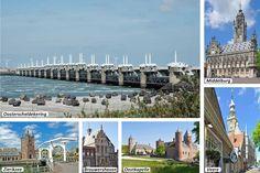 Puzzeltocht in Zeeland - Rijd in 28 multiple choice vragen door het weidse Zeeuwse land en geniet van de vele bezienswaardigheden die deze fraaie provincie in het zuidwesten van Nederland je te bieden heeft: Middelburg - Vlissingen - Westkapelle - Oostkapelle - Serooskerke - Veere - Kamperland - Neeltje Jans - Renesse - Brouwershaven - Noordgouwe - Schuddebeurs - Zierikzee - Goes - Middelburg