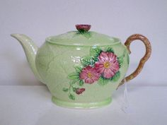 "I love Carlton Ware, this is ""Wild Rose""--perfect for a springtime tea! Vintage Crockery, Vintage China, Vintage Tea, China Teapot, Carlton Ware, Tea Pot Set, Teapots And Cups, Rose Tea, Coffee Set"