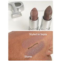 MAC Stone vs. Styled In Sepia