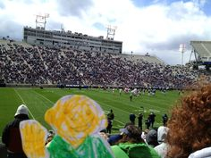 Flat Stanley went to the annual Blue & White football game at Penn State in State College, Pennsylvania.
