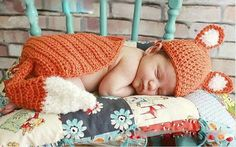 Find More Hats & Caps Information about Very Hot Newborn Baby Boy Girl Infant Knitted Crochet Fox Costume Photo Photography Prop/outfits,High Quality baby panda costume,China costume king Suppliers, Cheap costume boxer from Broke Girls' Fashion Stop on Aliexpress.com