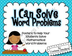 I Can Solve Word Problems Posters from Surfin Through Second on TeachersNotebook.com -  (9 pages)