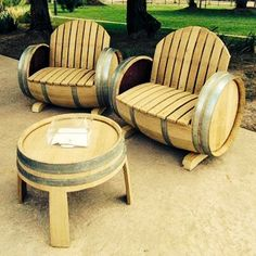 wine barell furniture