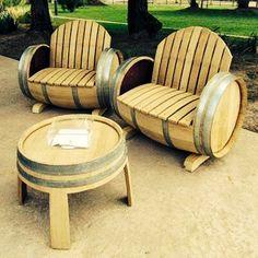 wine barell furniture