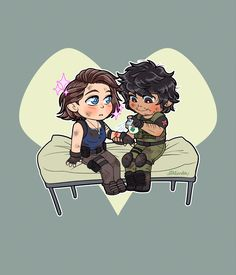 Jill x Carlos Carlos Resident Evil, Resident Evil 3 Remake, Resident Evil Game, Pretty Art, Cute Art, Valentine Resident Evil, Anime Cupples, Horror Video Games, Jill Valentine