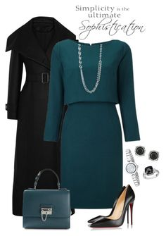 Untitled #87 by loves-fashion-style on Polyvore featuring polyvore, fashion, style, Temperley London, Christian Louboutin, Dolce&Gabbana, Gucci, Mark Broumand, R.H. Macy's & Co., Karen Kane, WALL, clothing and TealDress