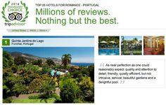 The Top Romance Hotel in Portugal - http://www.jardinsdolago.com/ #1 in Madeira - #1 in Portugal - #13 in Europe