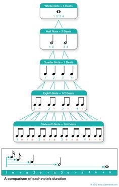 Values & Rests Musical Rhythm note values.will definitely print and post in my classroom!Musical Rhythm note values.will definitely print and post in my classroom! Solfege Piano, Music Theory Worksheets, Music Chords, Music Music, Music Happy, Music Beats, Reading Music, Piano Teaching, Music Activities