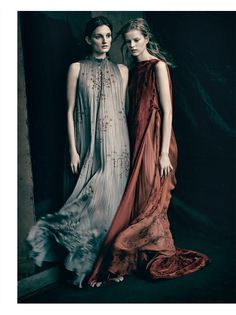 È ALTA MODA: Julia Fleming, Kadri Vahersalu by Paolo Roversi for Vogue Italia March 2016 - Valentino Spring 2016 Haute Couture