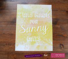 Sunny Days Printable || Cute free summer printable!