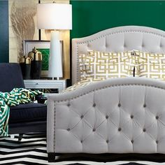 For those who have been inquiring about upholstered tufted beds, check out this stunning Nicolette Bed by Z Gallerie. Make sure you follow their page @zgallerie and stay updated on all their amazing products for spring.@zgallerie @zgallerie... - Interior Design Ideas, Interior Decor and Designs, Home Design Inspiration, Room Design Ideas, Interior Decorating, Furniture And Accessories