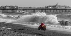 Brighton Beach Lifeguard - This was taken during a very stormy day on Brighton beach!  Prints are available on my website in various sizes.