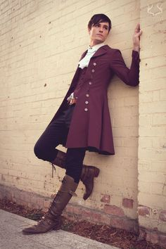 Wow he looks good i love this fashion it's like a male version of lolita Viktorianischer Steampunk, Steampunk Fashion, Male Clothes, Style Board, Moda Lolita, Handsome Men Quotes, Strong Woman Tattoos, Beautiful Women Quotes, Character Outfits