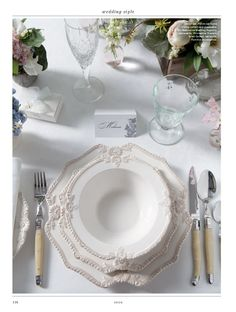 Our White Bretagne dinnerware looking beautiful. Provincial Home Living