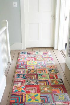 Add a little personality to your floors! #DashAndAlbert Gypsy Rose Cotton Hooked Rug