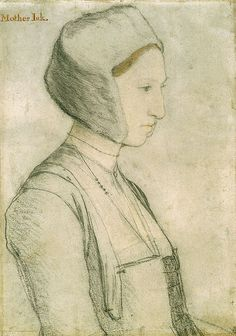 Hans Holbein. Portrait Study of Margaret Giggs. c.1527. The Royal Collection.