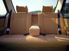 The back seat of a 1973 BMW 525 (E12)