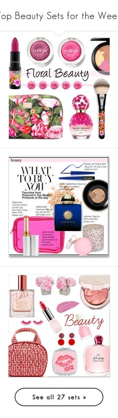 """""""Top Beauty Sets for the Week"""" by polyvore ❤ liked on Polyvore featuring beauty, MAC Cosmetics, Marc Jacobs, Clinique, Dolce&Gabbana, BeautyTrend, floral, Beauty, polyvoreeditorial and Bare Escentuals"""