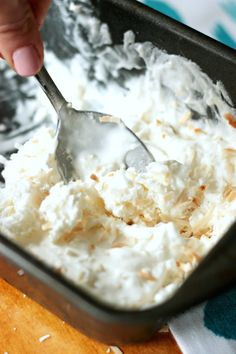 You can make this delicious coconut ice cream without an ice cream maker - and it's only got three ingredients. So creamy!