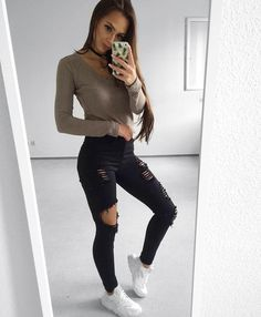 70cb7fd4e6ca5 Cute Outfits Outfits With Heels Part Cute Winter Outfits (Ripped Jeans)  Slideshow: Read more: 4 Tips to Improve Overall Appearance and Fashion  Trends