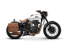 These custom-built Royal Enfield beauties will take your breath away! - Old School Bobber Enfield Motorcycle, Enfield Bike, Bobber Motorcycle, Motorcycle Design, Motorcycle Style, Motorcycle Girls, Royal Enfield Bullet, Classic 350 Royal Enfield, Enfield Classic