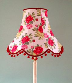Cath Kidston Standard Lamp Shade in White Royal Rose Fabric