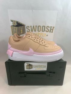 finest selection 123e5 e8bd4 Nike W AF1 Jester XX Beige Pink AO1220-202 Air Force 1 Womens 10 Shoes  Sneakers #Nike #AthleticSneakers