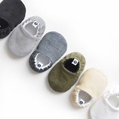[ The Little Loafie ] Signature, handmade baby moccs in coordinating corduroy uppers + soles - perfectly gender neutral for newborns, crawlers and walkers... A baby wardrobe staple and must-have! ** C