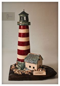 Lighthouse - moneybox made by Zapiecek / ceramic, handmade