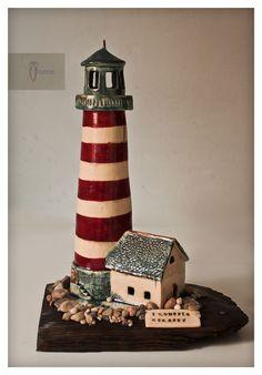 Lighthouse - moneybox made by Zapiecek / ceramic, handmade
