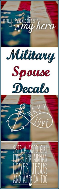 Military Spouse Vinyl Decal, Window Decal, Car Decal, Bottle Decal, Laptop Decal #milspouse #ad