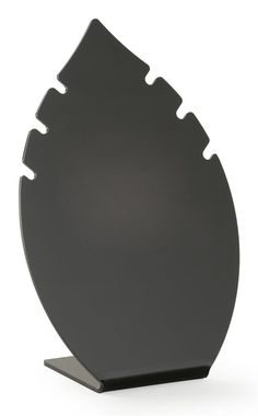 "8.5"" Acrylic Jewelry Display for Necklaces, Leaf-shaped, Set of 6 - Black"