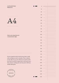 Printable ruler design Web Design, Graphic Design Layouts, Graphic Design Inspiration, Layout Design, Typography Layout, Graphic Design Typography, Lettering, Poster Layout, Print Layout