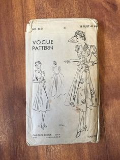 Vogue 8021 | 1930s one-piece frock