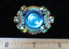 Outstanding Handmade Vintage Style Czech Rhinestone Glass Button Lovely Colors | eBay