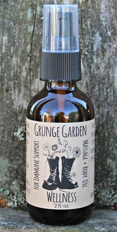 Wellness Aromatherapy Massage Oil by GrungeGardens on Etsy
