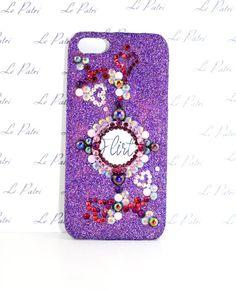 Flirty Purple Bling Phone Case with Swarovski Crystal by LePatri
