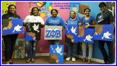 Sorors of Alpha Delta Zeta Chapter enjoying the company and Founders Day Celebration with their Sisters