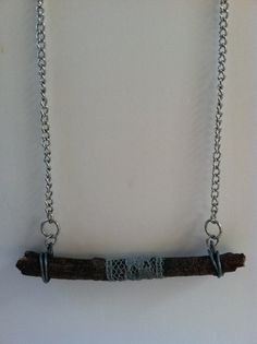 Charming Lace and Wood Necklace   by ModTribe, $30.00