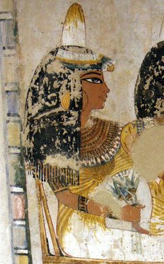 "Ancient Egyptian painting from the Tomb of Menna, located in the Sheikh Abd el-Qurna district of the Maadi, opposite Luxor in Egypt. Menna was ""Scribe of the Fields of the Lord of the Two Lands"" probably during the reign of Thutmose IV during the 18th dynasty."