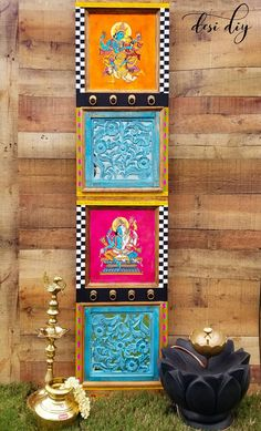 39 Trendy Home Office Design Pink Craft Rooms Indian Wall Decor, Indian Home Decor, Asian Decor, Design Seeds, Indian Inspired Decor, Painting Old Furniture, Baby Model, Pink Crafts, Ethnic Home Decor