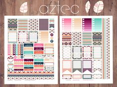 AZTEC Summer Themed Planner Stickers for Erin by PrintsesPlanner