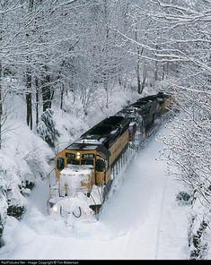 Train in the Snow