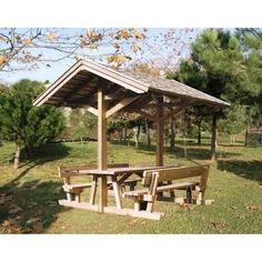 gazebo modelleri ile ilgili görsel sonucu Gazebo, Cedar Furniture, Small Tiny House, Picnic Table, Woodworking Plans, Fence, Shelter, Outdoor Structures, Projects