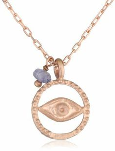 Satya Jewelry Rose Gold Iolite Eye Positive Outlook Necklace Satya Jewelry. $78.00. Made in Thailand