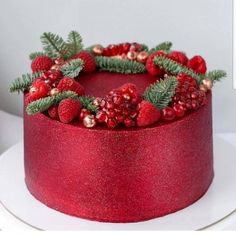Tag a glitter lover you can never have too much glitter😉😉 Red … - Cake Decorating Square Ideen Christmas Cake Designs, Christmas Cake Decorations, Christmas Sweets, Royal Cakes, Fun Cookies, Cupcake Cookies, Chocolate Flowers Bouquet, 80 Birthday Cake, Edible Glitter