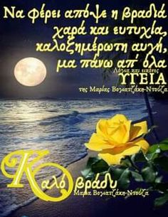 Good Morning Flowers, Greek Quotes, Good Night, Wish, Mannheim, Nighty Night, Good Night Wishes