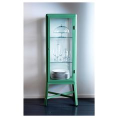 I discovered this FABRIKÖR Glass-door cabinet - light green - IKEA on Keep. View it now.