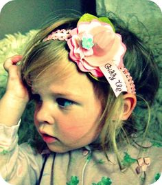 perfect party hair accessory...mini pink cowboy hat w/ felt flower!