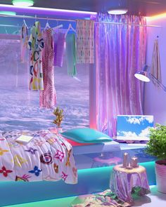 My New Room, My Room, Room Ideas Bedroom, Bedroom Decor, Pink Lila, Neon Room, Retro Room, Indie Room, Room Goals